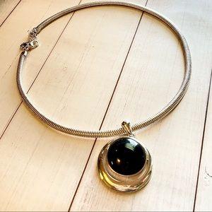 Liz Claiborne Slver Choker Necklace